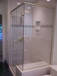 mitred glass shower