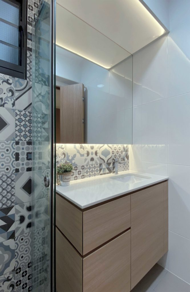 modern contemporary HDB customised vanity