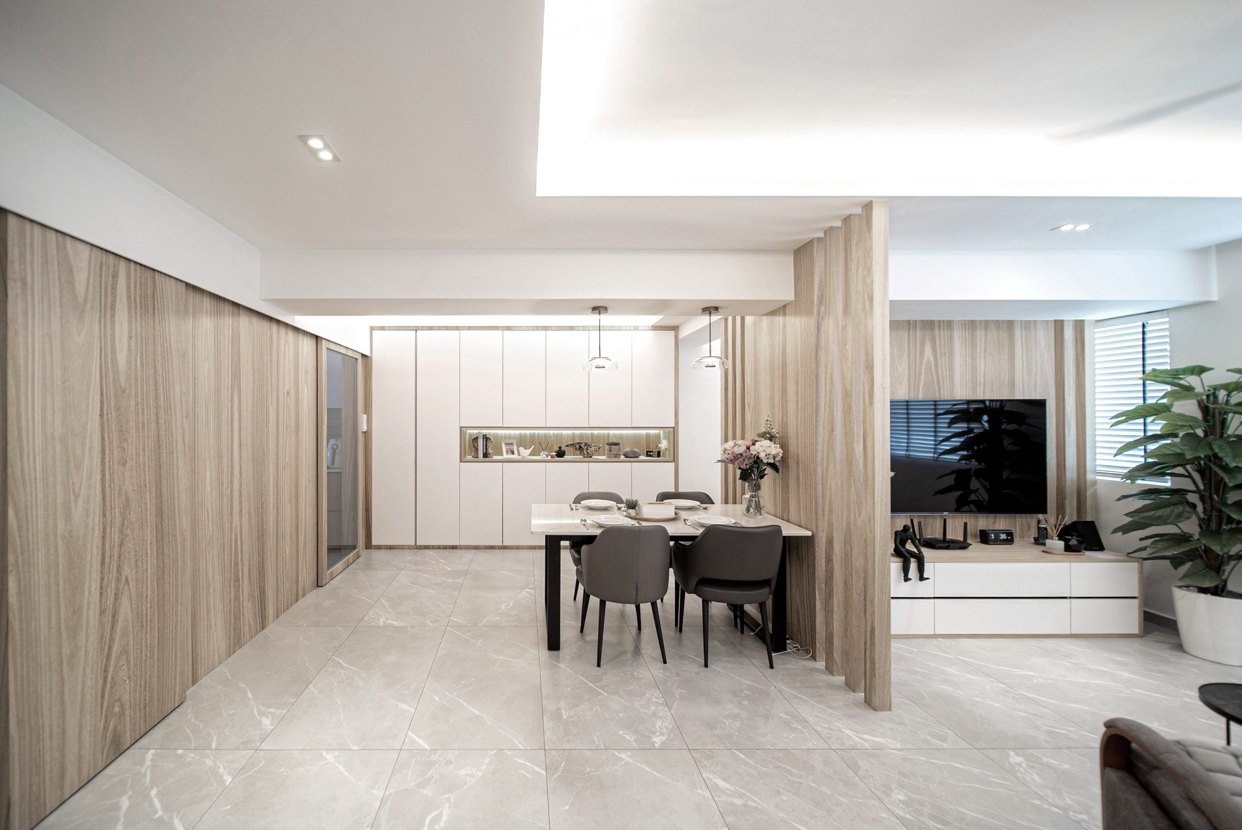 Bishan St 13 Open Concept Living Dining Room Wall Partition